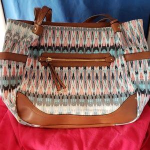Spectacular tiedye Indian print handbag go…